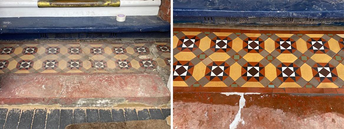 Damaged Victorian Step Fully Restored in Chislehurst